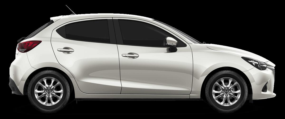 Mazda2 Snowflake White Pearl Mica Car