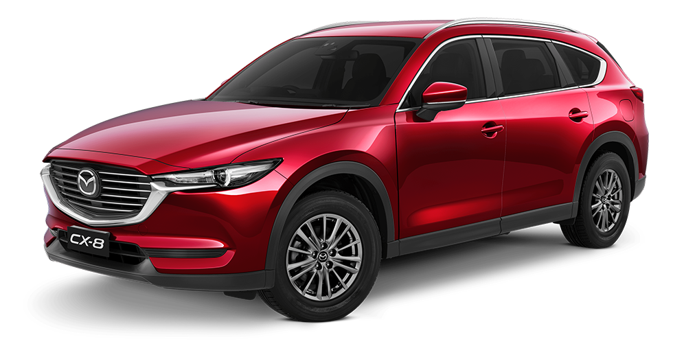 mazda cx 8 Red Crystal Metallic