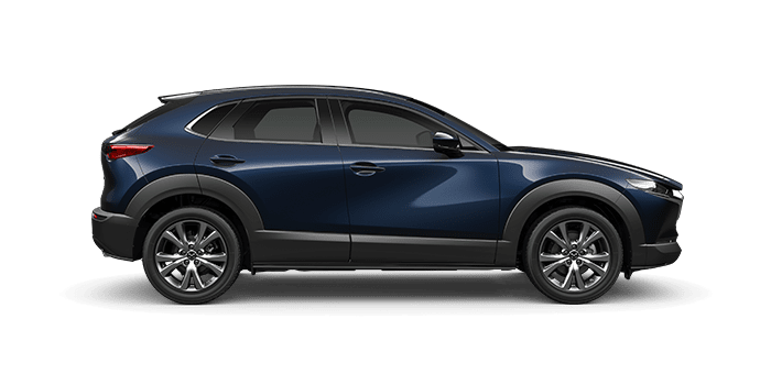 Mazda finance deals on CX-30 deep crystal blue