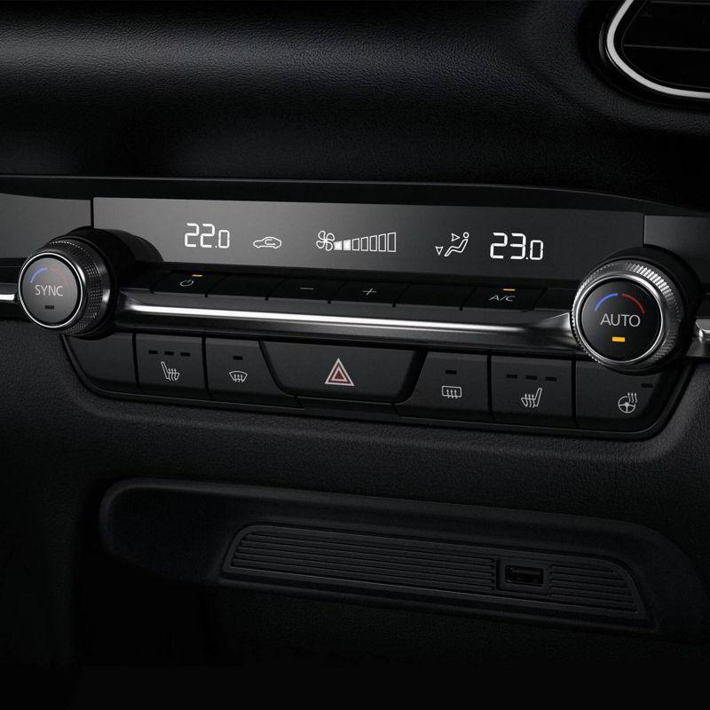 Mazda dual zone climate control